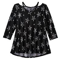 Girls 7-16 SO® 3/4-Sleeve Strappy Legging Tee