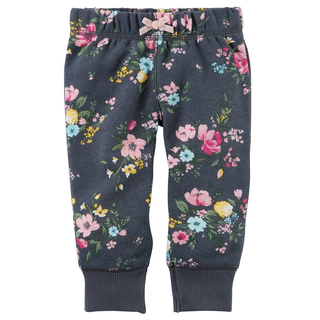 Baby Girl Carter's Floral Fleece Pants