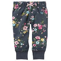 Baby Girl Carter's Floral Fleece Pants