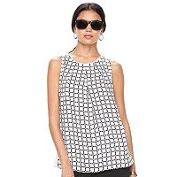 Women's ELLE™ Print Pleated Tank