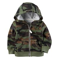 Baby Boy Carter's Camouflage Hooded Fleece Cardigan