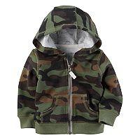 Baby Boy Carter's Camouflage Hooded Fleece Cardigan