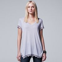 Women's Simply Vera Vera Wang Lace Trim Tee