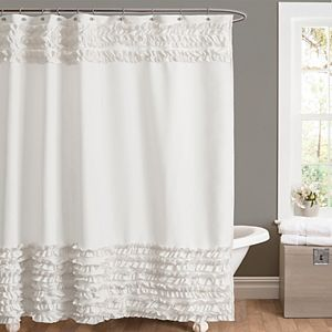 Lush Decor Amelie Ruffle Shower Curtain