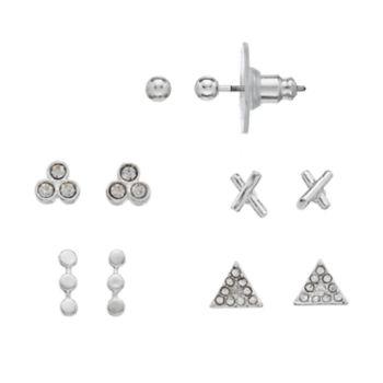 LC Lauren Conrad Nickel Free Triangle & Round Stud Earring Set