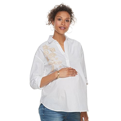 Maternity a:glow Embroidered Shirt