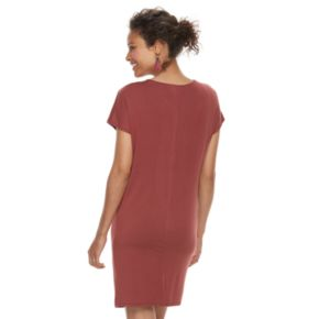 Maternity a:glow Twist-Neck Shift Dress