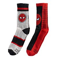 Boys Marvel Spider-Man 2-Pack Crew Socks