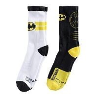 Boys' DC Comics Batman 2-Pack Crew Socks