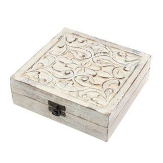 Stonebriar Collection Filigree Wood Box Table Decor