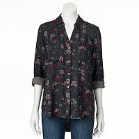 Women's Rock & Republic® Floral High-Low Shirt