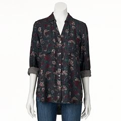 Women's Rock & Republic® Floral High-Low Shirt