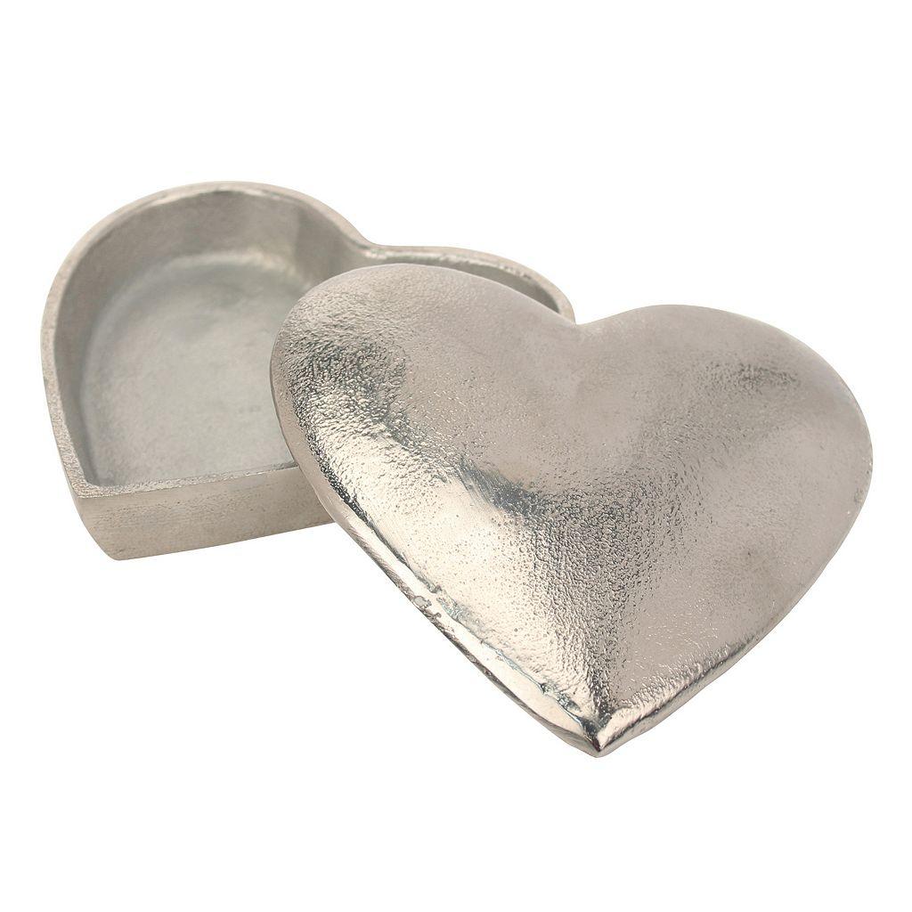 Stonebriar Collection Heart Box Table Decor