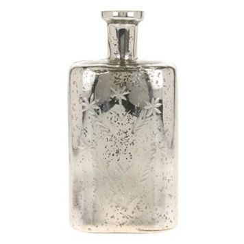 Stonebriar Collection Mercury Glass Bottle Vase Table Decor