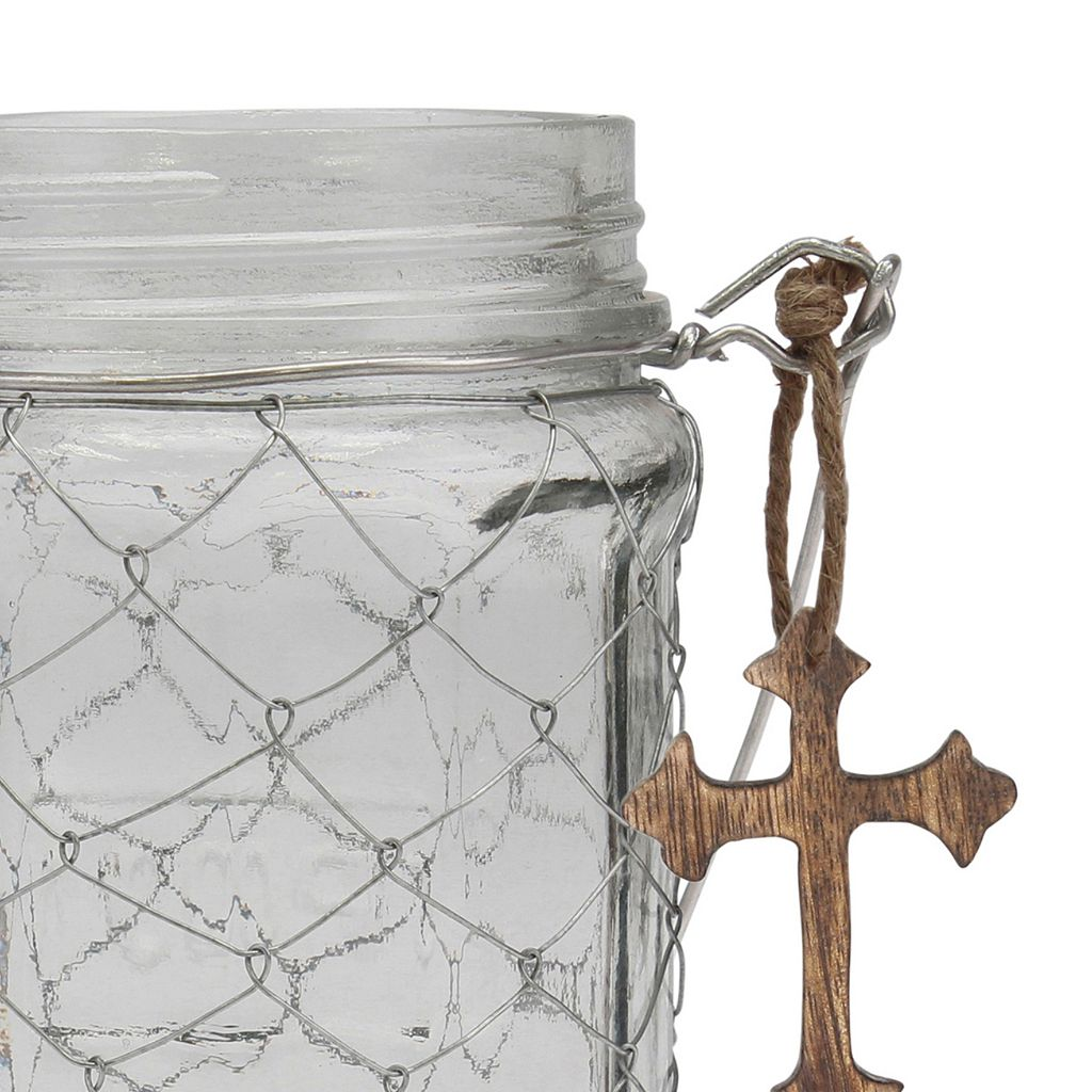 Stonebriar Collection Glass Jar Table Decor