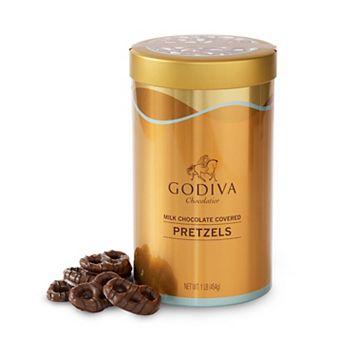 Godiva Milk Chocolate-Covered Pretzels Tin