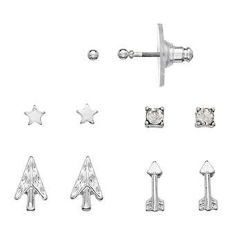 LC Lauren Conrad Nickel Free Star & Arrow Stud Earring Set