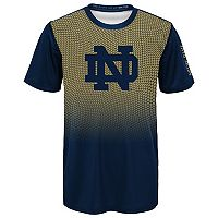 Boys 8-20 Notre Dame Fighting Irish Bitmapped Dri-Tek Tee
