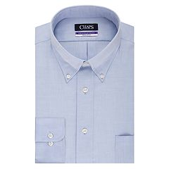 Big & Tall Chaps Regular-Fit Non-Iron Stretch Button-Down Collar Dress Shirt