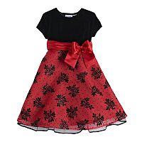Girls 4-6X Blueberi Boulevard Embellished Dress