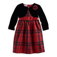 Girls 4-6x Blueberi Boulevard Plaid Dress & Bolero