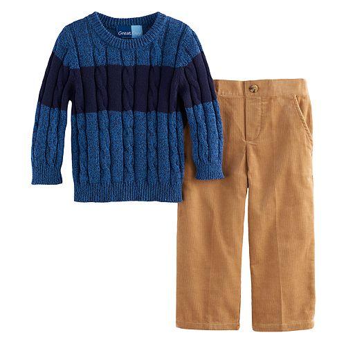 Toddler Boy Great Guy Marled Sweater & Pants Set