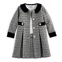 Girls 4-6x Blueberi Boulevard Tweed Coat Set