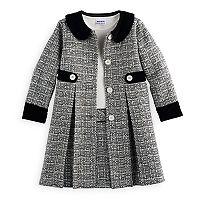 Girls 4-6x Blueberi Boulevard Tweed Coat Set