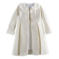 Girls 4-6x Blueberi Boulevard Shimmer Coat & Dress Set