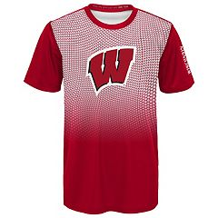 Boys 8-20 Wisconsin Badgers Bitmapped Dri-Tek Tee
