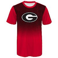 Boys 8-20 Georgia Bulldogs Bitmapped Dri-Tek Tee