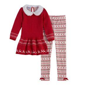 Girls 4-6X Blueberi Boulevard Reindeer Sweater Set