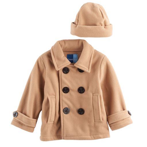 Toddler Boy Great Guy 2-pc. Peacoat Midweight Jacket & Hat Set