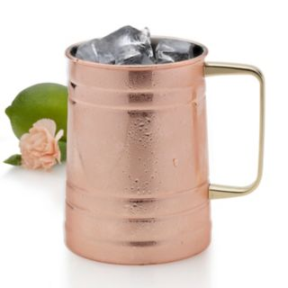 Towle Living Copper-Plated Barrel Mug