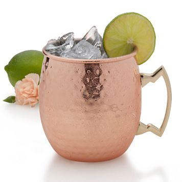 Towle Living Hammered Copper-Plated Moscow Mule Mug