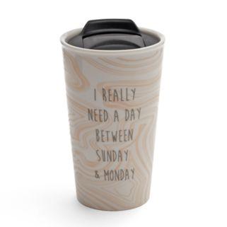 "LC Lauren Conrad ""Need A Day"" Ceramic Travel Mug"
