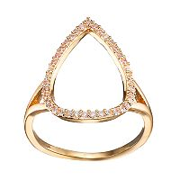 LC Lauren Conrad Cubic Zirconia Open Teardrop Ring