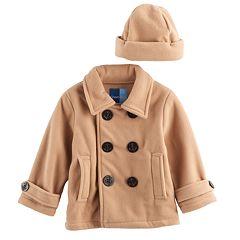 Baby Boy Great Guy Peacoat Midweight Jacket & Hat Set