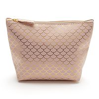 LC Lauren Conrad Scalloped Print Cosmetic Bag