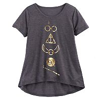 Girls 7-16 Harry Potter Foil Icons Graphic Tee