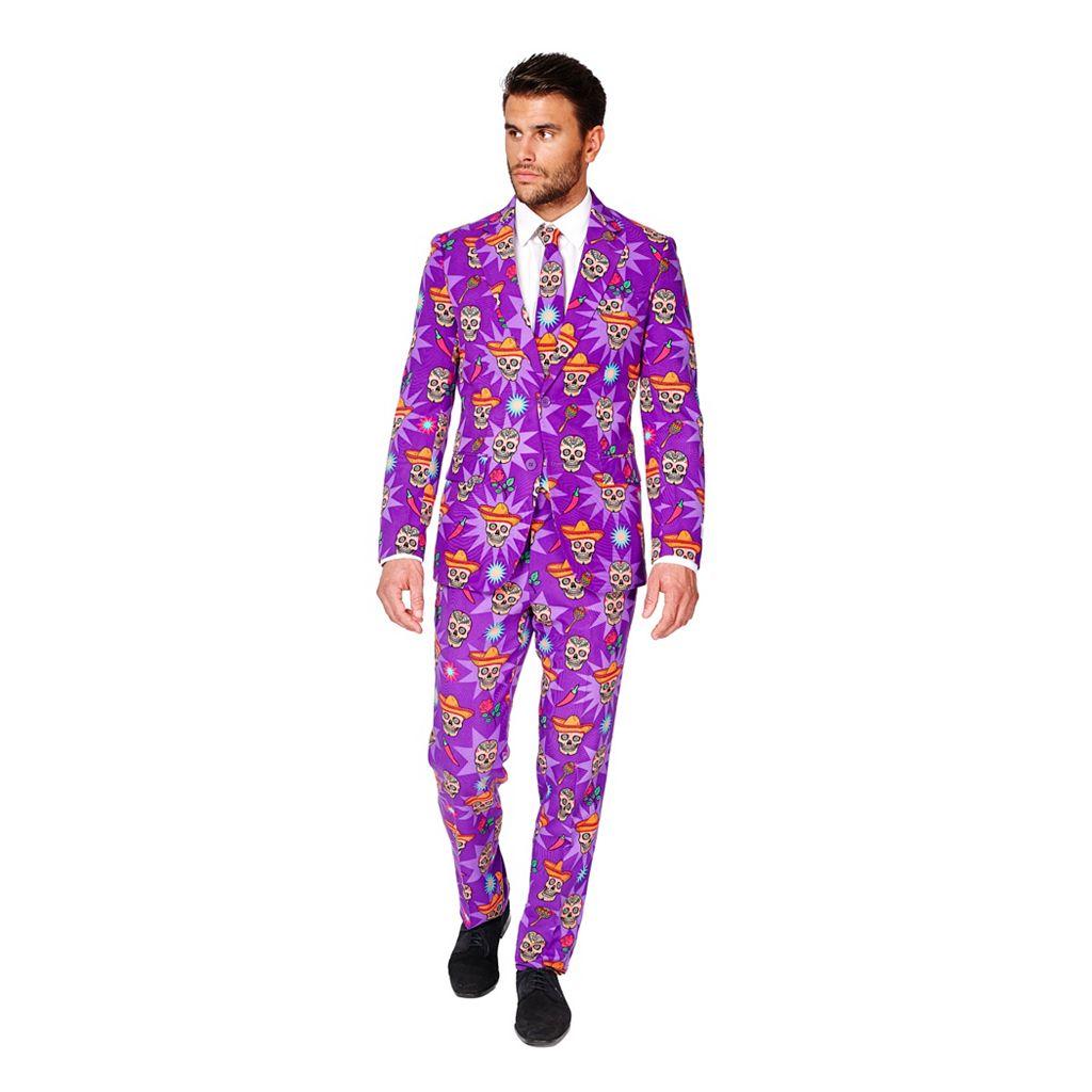 Men's OppoSuits Slim-Fit El Muerto Suit & Tie Set