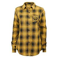Juniors' Iowa Hawkeyes Dream Plaid Shirt