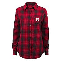 Women's Rutgers Scarlet Knights Dream Plaid Shirt