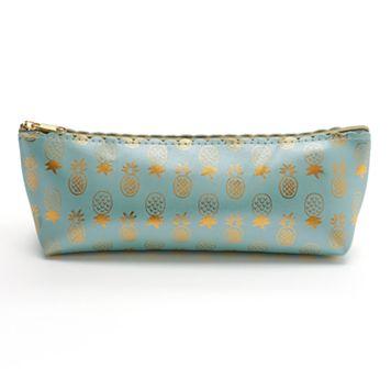 LC Lauren Conrad Pineapple Cosmetic Brush Bag