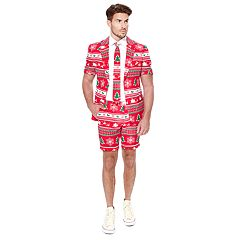 Men's OppoSuits Slim-Fit Winter Wonderland Suit & Tie Set