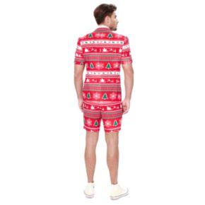 Men's OppoSuits Slim-Fit Winter Wonderland Suit & Tie Set