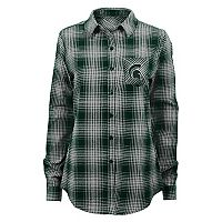 Juniors' Michigan State Spartans Dream Plaid Shirt