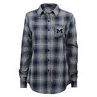 Juniors' Michigan Wolverines Dream Plaid Shirt