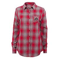 Juniors' Ohio State Buckeyes Dream Plaid Shirt