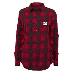 Juniors' Nebraska Cornhuskers Dream Plaid Shirt